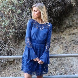 Dresses & Skirts - blue lace dress